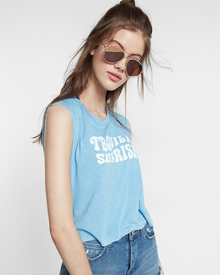 Tequila Sunrise Abbreviated Muscle Tank