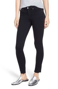 Rag and Bone Raw Hem Ankle Skinny Jeans