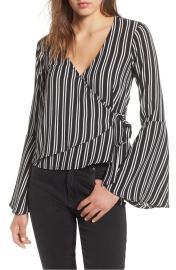 Chloe and Kate Bell Sleeve Wrap Top