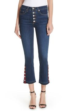 Veronica Beard Buttom Hem Baby Boot Jeans