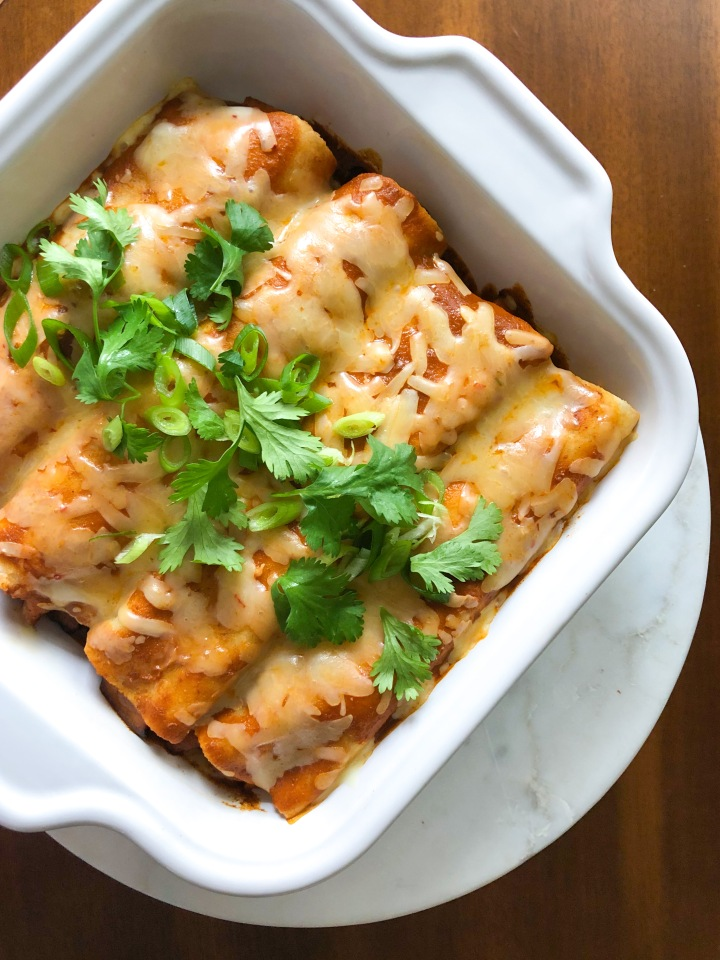 Skinny Butternut Squash and Black Bean Enchiladas